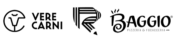 black and white logos