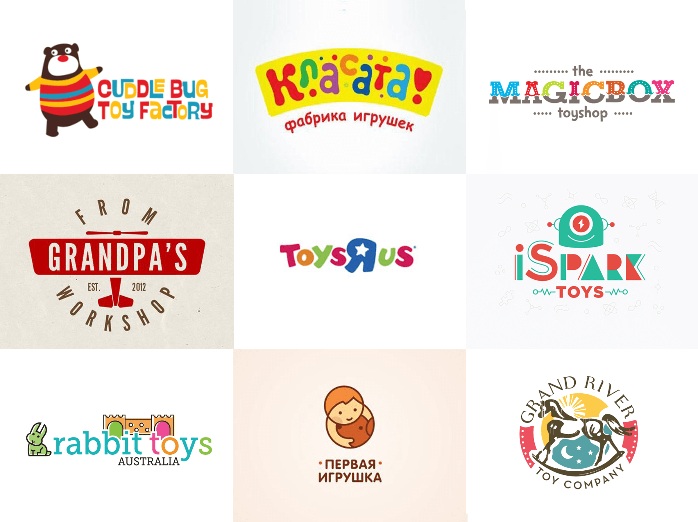 toy company name: original examples & tips | logo design blog | logaster