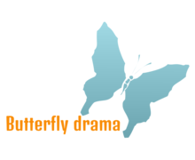 Butterfly Drama Logaster logo