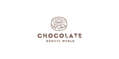Chocolate Donuts World Logaster Logo