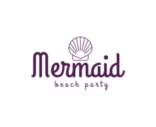 Mermaid Beach Party Logaster Logo