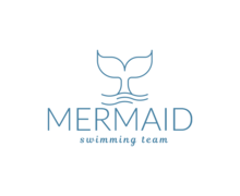 Mermaid Swimming Team Logaster Logo